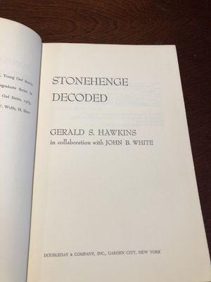 Stonehenge Decoded 1965 book for Sale in Oakwood, GA