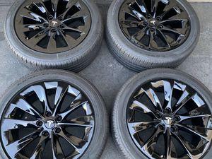 """19"""" Tesla model S slipstreams gloss black powdercoat rims wheels tires for Sale in Tustin, CA"""