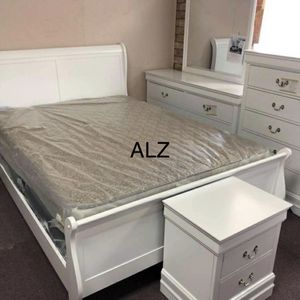 💁‍♀️Best Offer 💁‍♀️- $39 Down 👍 Same day delivery🙏 👉🏻 👍BedRoom Set (4-PIECE QUEEN bed,Dresser,mirror,Nightstand 🌸🌸 for Sale in Houston, TX