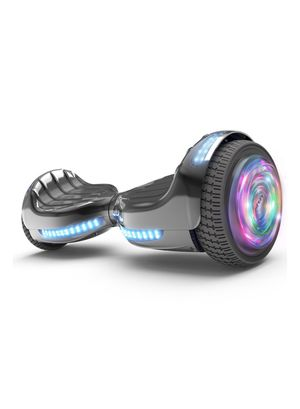 """Flash Wheel Hoverboard 6.5"""" Bluetooth Speaker with LED Light Self Balancing Wheel Electric Scooter - Chrome Black for Sale in Catonsville, MD"""