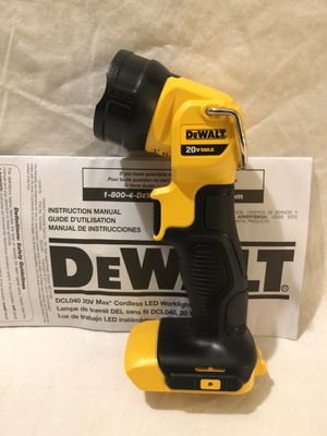 Brand new never used Dewalt 20V LED flash light. Tool only for Sale in Vacaville, CA