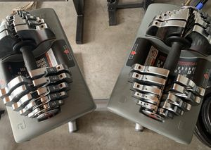 ajustable dumbbells 55 lbs with stand. for Sale in Kent, WA