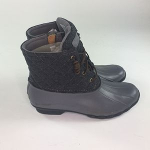 NEW Sperry Gray Rubber Lace Duck Ankle Boots Womens Size 11M Style STS97562 for Sale in Tustin, CA