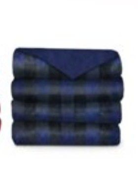 Navy plaid electric blanket for Sale in San Diego, CA