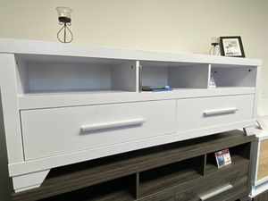 Tv Stand for Tvs Up to 70inch, White, 151301TV for Sale in Pico Rivera, CA