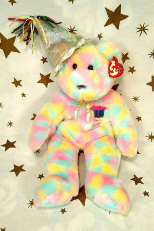 "CHECK MY OFFERS**EVERYTHING MUST GO**Ty 2003 Plush Beenie Buddy Stuffed Animal Teddy Bear Happy Birthday Bear 14"" for Sale in Spanaway, WA"