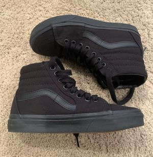 Vans Off The Wall boys High Top Tennis Shoes Basketball Skater 3.5 for Sale in Washougal, WA