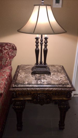 3 pcs sofa and end tables marble for Sale in Azalea Park, FL
