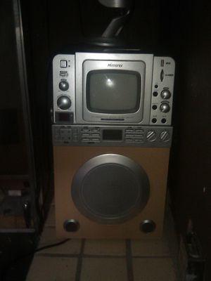 Karaoke machine with a blue microphone for Sale in Corona, CA