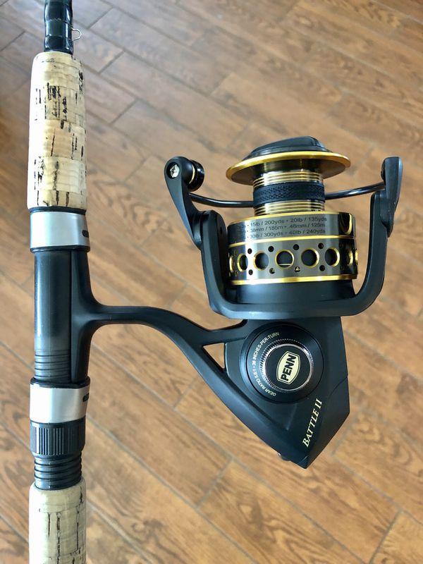New Penn Battle II 5000 Reel on a Shimano Teramar Rod