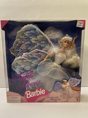 NEW 1996 Angel Princess Barbie Doll Mattel #15911 Blonde You Can Make Her Fly!! for Sale in Arcadia, CA