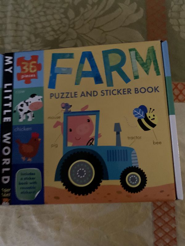 Farm puzzle and stickers new
