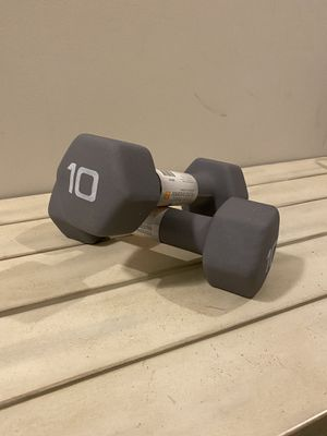 CAP Neoprene 10lb Dumbbell Pair ( 20lbs Total ) Weight NEW for Sale in Silver Spring, MD
