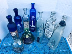 Handblown Artisanal Tequila Bottles for Crafts for Sale in Chula Vista, CA