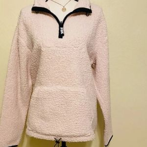 New Victoria Secret Pink Fuzzy Warm Pullover Hoodie Size Large for Sale in Providence, RI