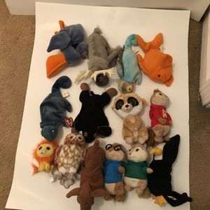 Assorted character beanie baby for Sale in Norton, MA