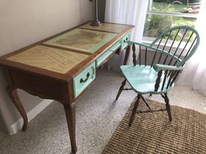 Antique refurbished writing desk & chair. for Sale in Nokomis, FL