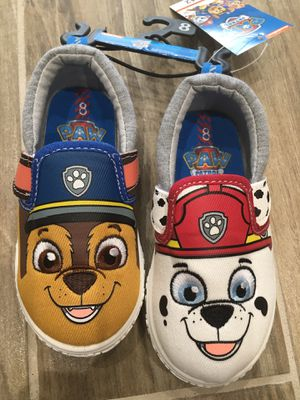 New paw patrol toddler shoes size 8 for Sale in Alsip, IL