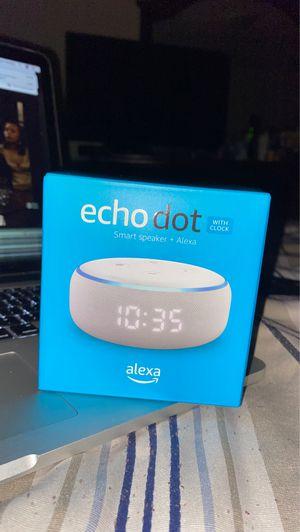 Echo dot speaker + Clock for Sale in The Bronx, NY