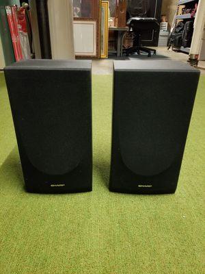 Pair of Sharp 20 Watt Bookshelf Speakers for Sale in Manchester, MO