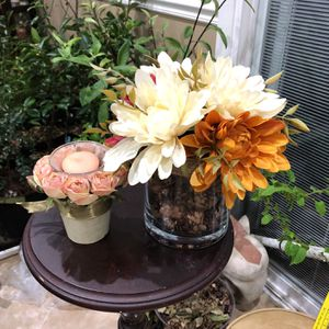 Artificial Flower With Vase And Candle Holder for Sale in Springfield, VA