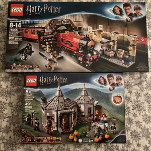 LEGO BUNDLE Harry Potter Express Train And Hagrids Hut Brand New for Sale in Glen Mills, PA