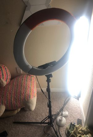 LED ring light for webcamming for Sale in Rancho Cucamonga, CA