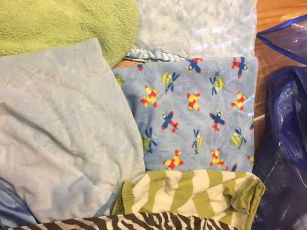 Baby blankets and Boppy pillow cover