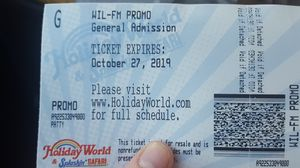 2 tickets to holiday world for Sale in St. Louis, MO