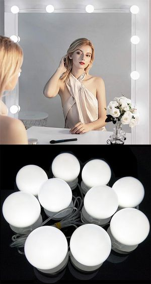 New $20 DIY Vanity Mirror Kit 10pcs Dimmable LED Light Bulb Makeup Dressing Table (USB Connection) for Sale in El Monte, CA