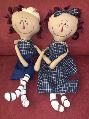 Prim Raggedy Ann & Andy twin dolls nwt siblings for Sale in Vermilion, OH