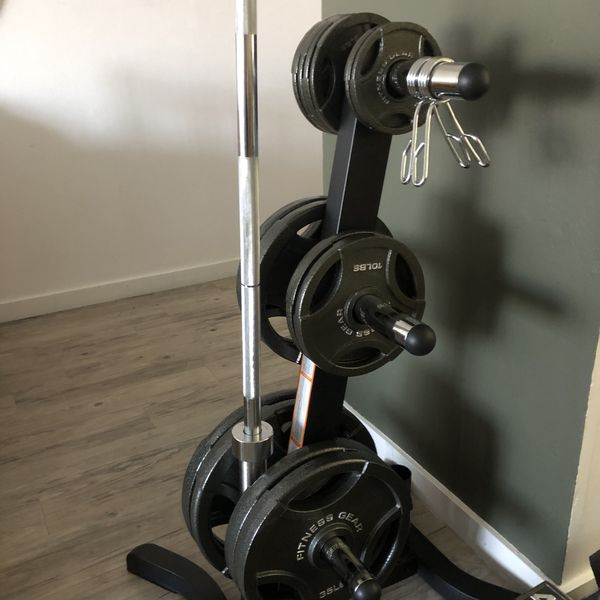 Home Gym - Fitness Gear 300lb Olympic Weight Set *BRAND NEW*