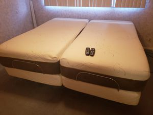 (2) Twin Sized Adjustable Bed-frames, with memory foam mattresses. for Sale in Renton, WA