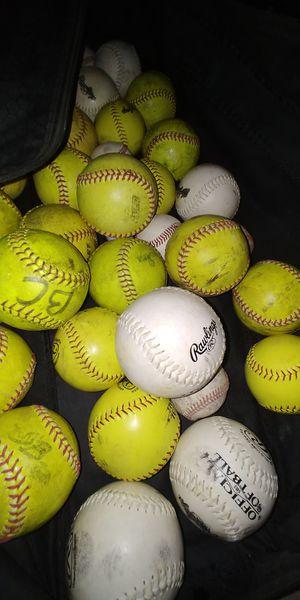 Softballs and bag for Sale in Salt Lake City, UT