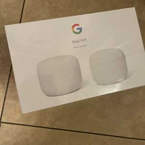BRAND NEW GOOGLE NEST WIFI AC2200 MESH SYSTEM ROUTER AND POINT (2pack) Model GA00822-US for Sale in Santa Ana, CA