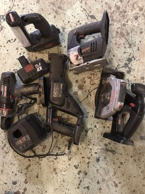 Craftsman battery power tools 19.2 volts for Sale in Toms River, NJ
