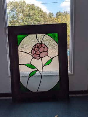 Stained glass handmade in antique frame for Sale in Austin, TX
