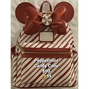 New Disney x Loungefly Backpack [Christmas Holiday Peppermint - Candy Cane] for Sale in Lakewood, CA