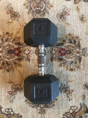 Rubber Dumbbells Only (1x30Lb) For $20 Firm!!! for Sale in Burbank, CA