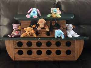Solid Wood Noah's Arc stuffed animal display TY or bean bag animals for Sale in Orlando, FL