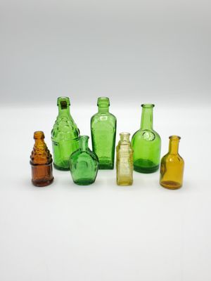 Vintage 1970's Wheaton Apothecary Minature Glass Bottles (Set of Seven) for Sale in DeKalb, IL