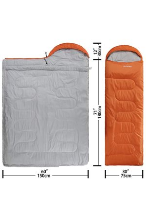 Lightweight Waterproof Envelope Mummy Sleeping Bag With Compression Sack for Kids,Boys, Girls, Teens & Adults. Indoor &Outdoor Camping, Travelling, H for Sale in Plantation, FL