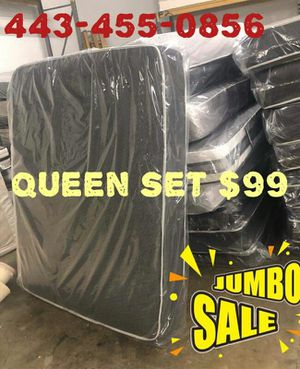Mattress FREE BOX SPRING SAME DAY DELIVERY for Sale in Alexandria, VA