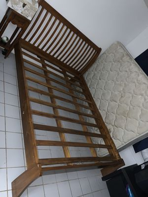 Bed Frame Soli Wood Must Sell $800 OBO for Sale in Honolulu, HI
