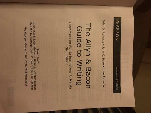 allyn and bacon guide to writing 6th edition fiu