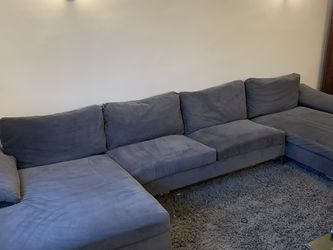 Large Slate Gray Modern Sectional - Perfect for tight stairwells - Pet Free Home for Sale in Waltham,  MA