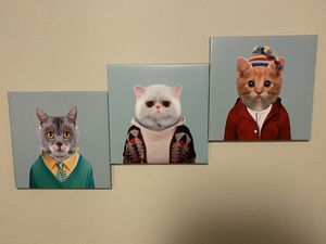 Cute Cat Artwork for Room Decoration for Sale in Dallas, TX