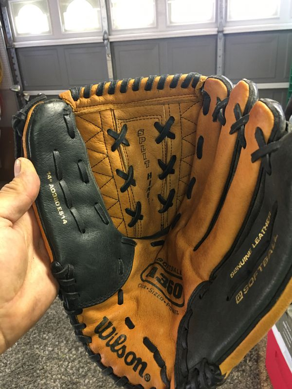 Wilson softball glove A360 ES14 left hand