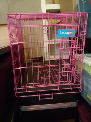 Pink dog crate for Sale in Pleasanton, CA