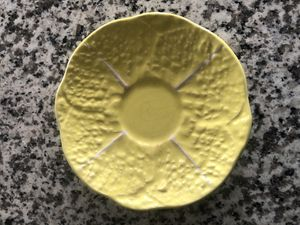 Vintage Secla Portugal Yellow Cabbage Saucer for Sale in Cinnaminson, NJ